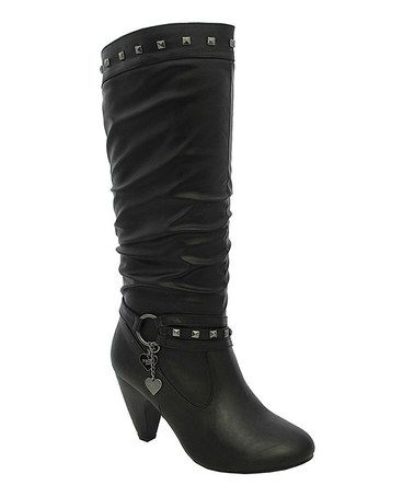 Look what I found on #zulily! Black Sylvia Boot #zulilyfinds