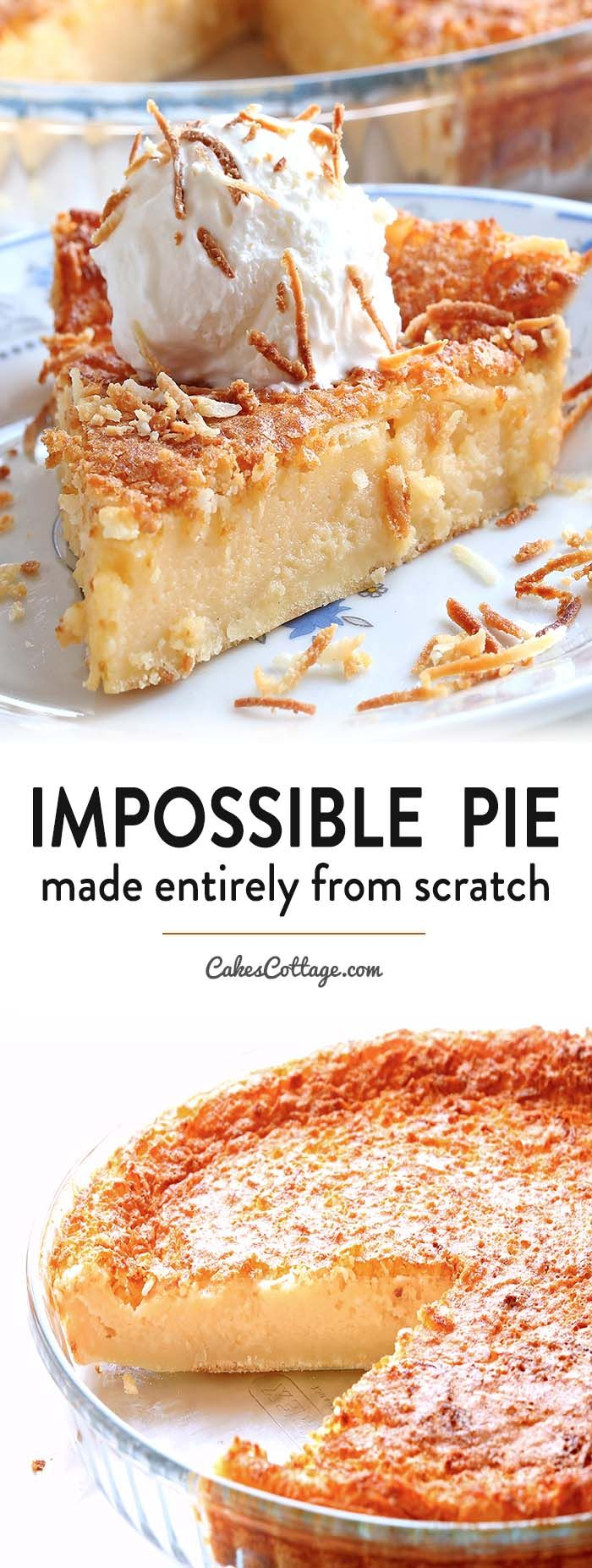 Impossible Pie Recipe - Cakescottage