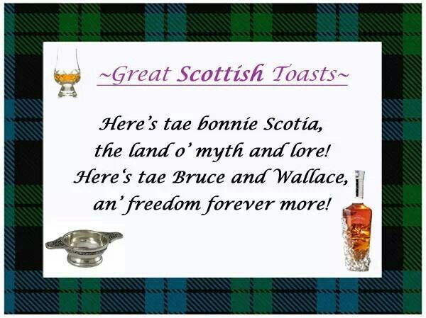Great Scottish Toast | Scotland In Words | Scottish words, Scottish