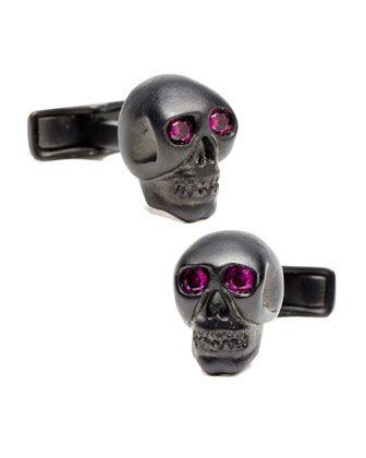 Crystal Skull Cuff Links by Cufflinks Inc. at Neiman Marcus.