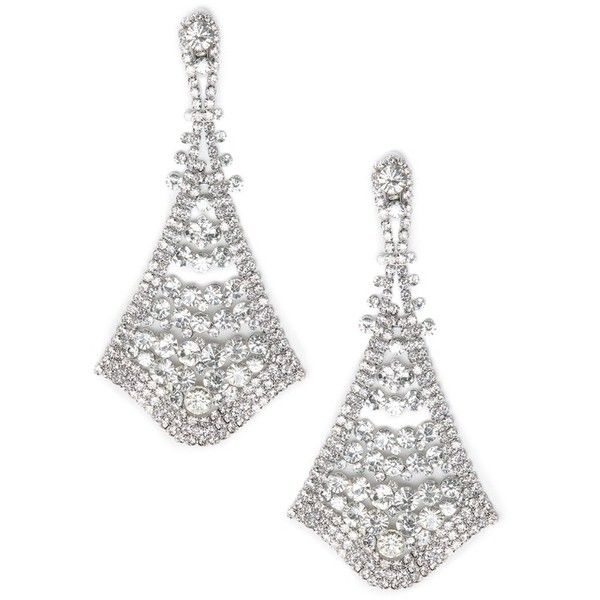 bebe Crystal Statement Earrings (130 BRL) ❤ liked on Polyvore featuring jewelry, earrings, bebe jewelry, statement earrings, crystal stone jewelry, bebe and crystal jewellery