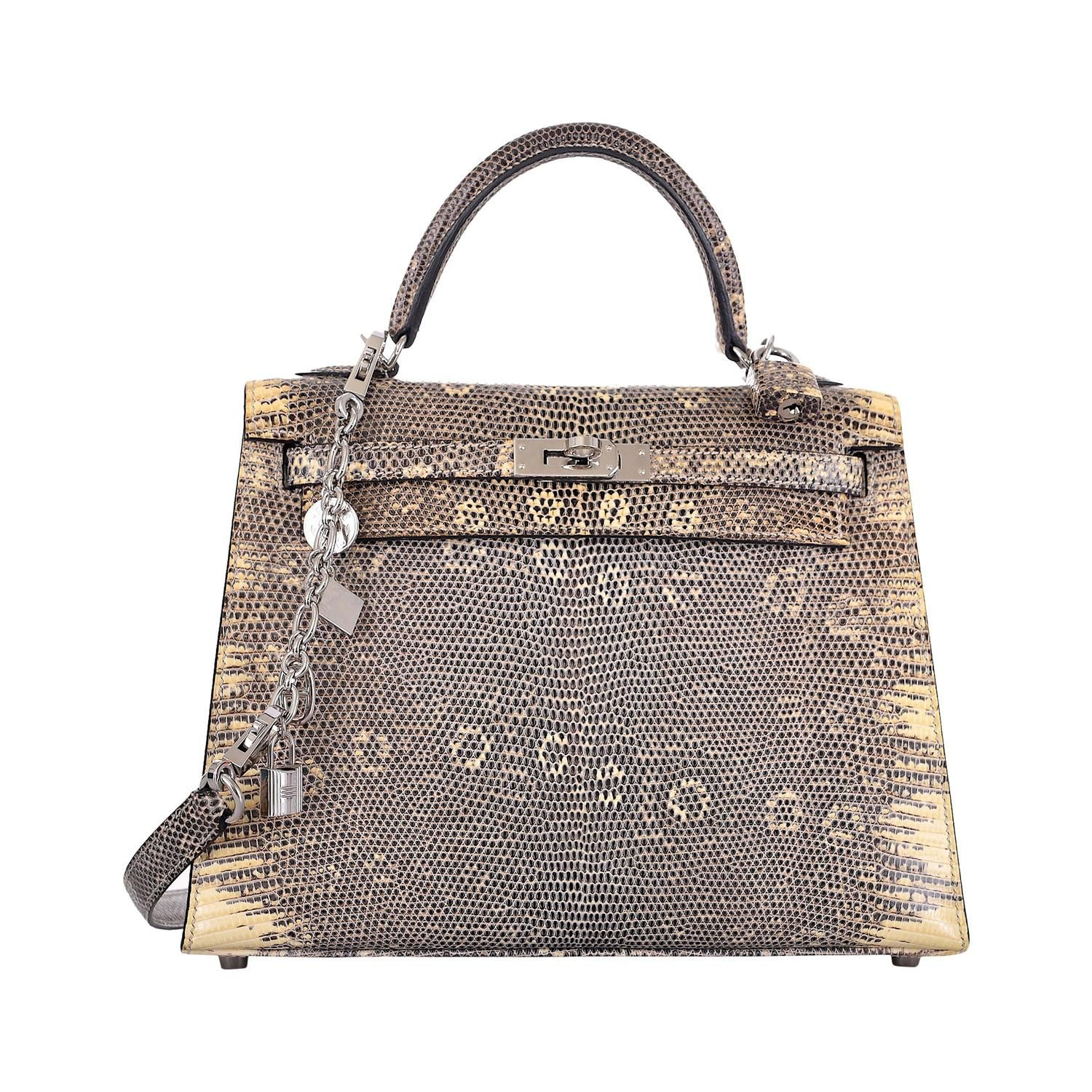 c93b2d2187a6 IMPOSSIBLE FIND HERMES KELLY BAG 25CM OMBRE LIZARD FABULOSITY JF FAVE  JaneFinds