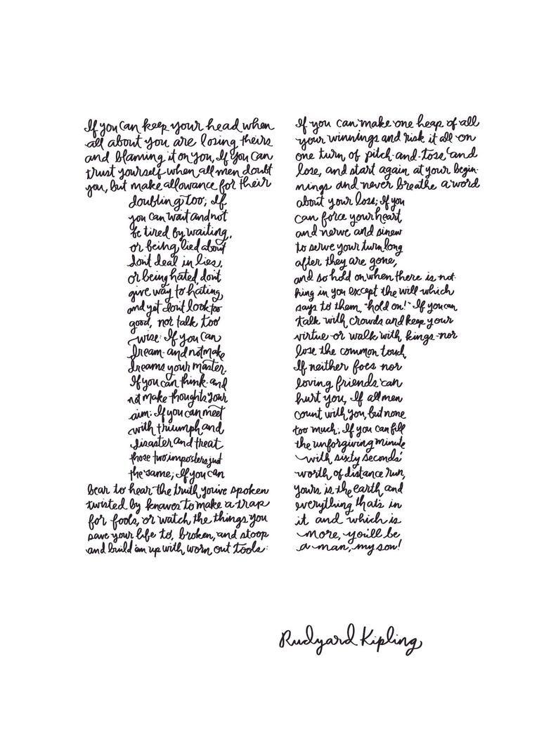 Art Print Handlettered Poem