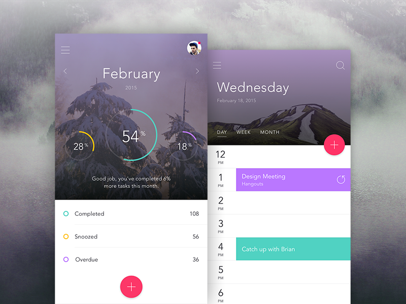 Dashboard & Calendar Views