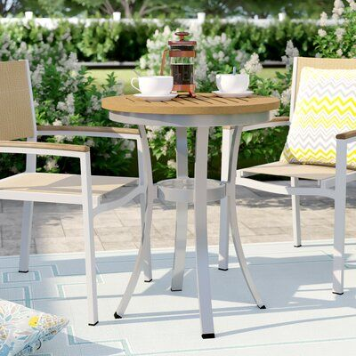 Sol 72 Outdoor Caspian Bistro Table Color Natural Table Size 24