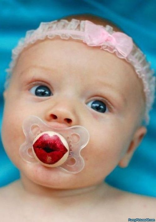 lips pacifier it would be adorable if you had a boy and girls twins
