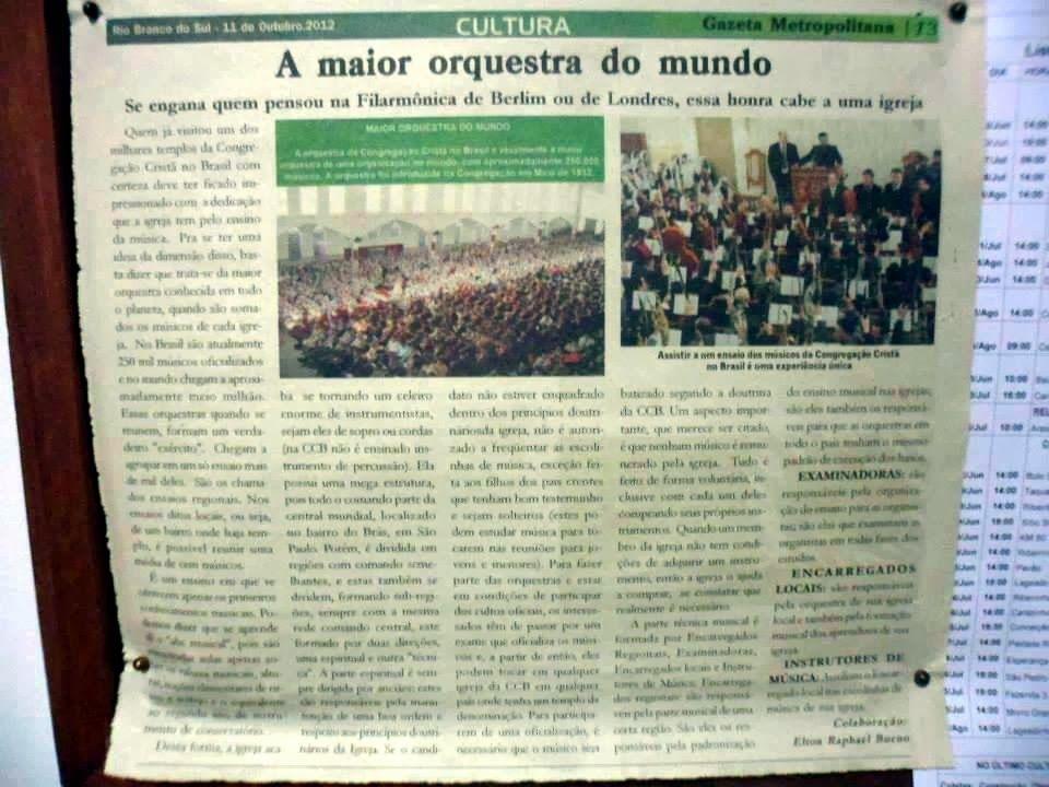 Verdade dos Tempos: CCB - Congregação Cristã no Brasil