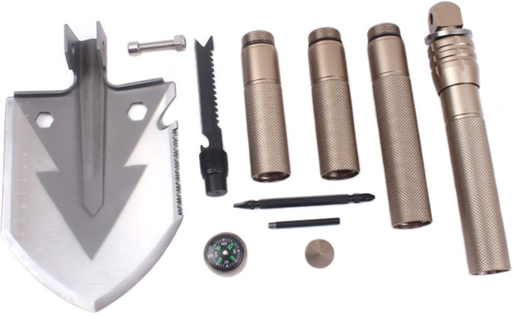 Military Tactical Multifunction Shovel Strong Detachable Outdoor Survival Tool