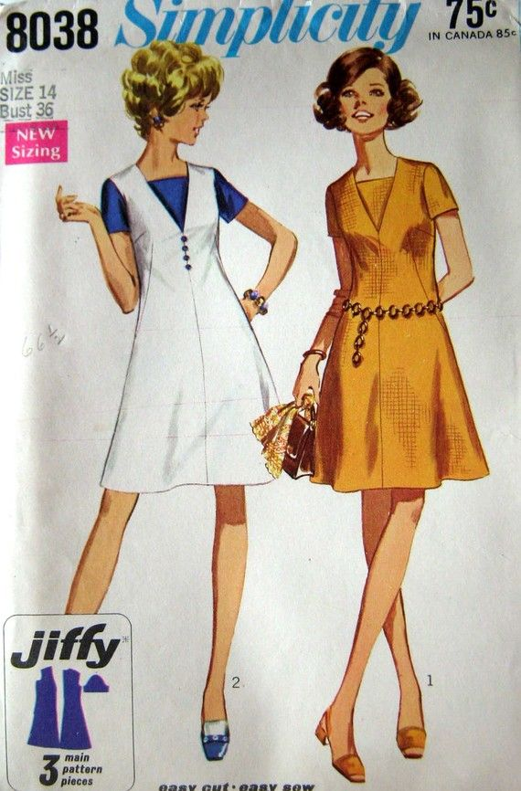 60s Flared Dress Vintage Sewing Pattern Simplicity by stumbleupon ...