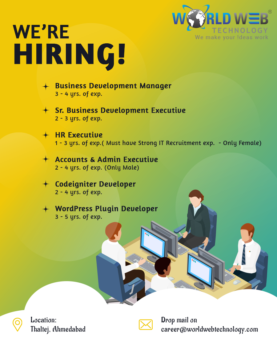 Careers Job Opportunities Open Positions At World Web Technology Web Technology Technology Careers Career