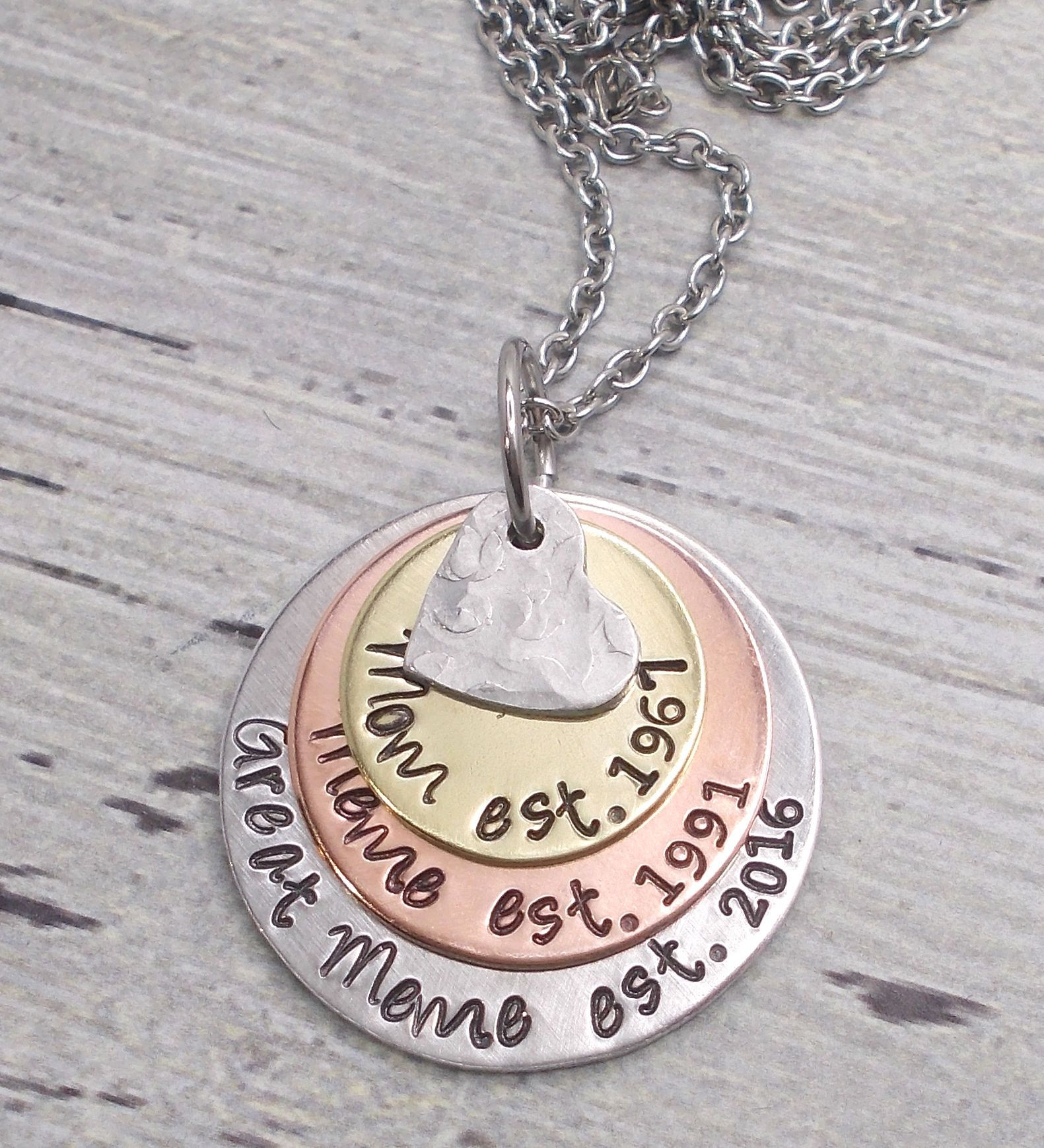 personalized grandma or mom milestone necklace mother s day gift