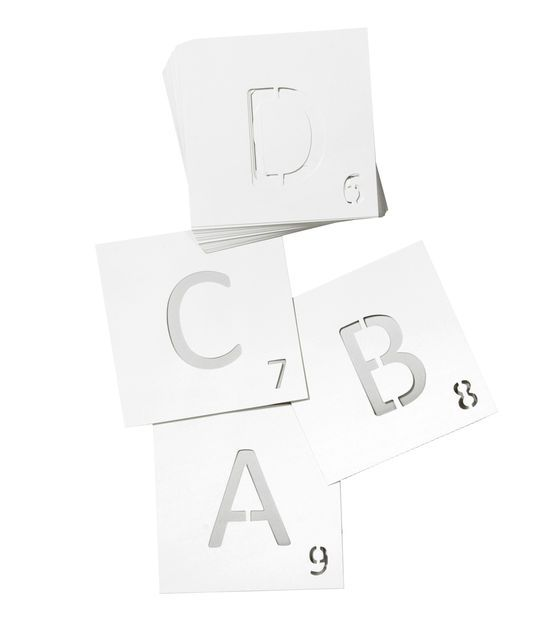 6 Inch Stencil, PLAY | Be Crafty | Wood craft supplies, Scrabble