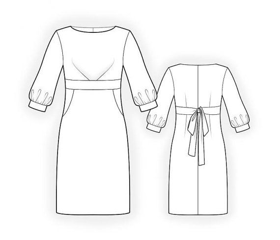 Lekala 44132 Dress Sewing Pattern PDF Download Free by TipTopFit ...