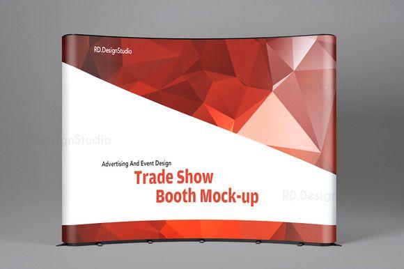 Tradeshow Display Booth Mockup Tradeshow Booth Display Trade Show Display Print Templates