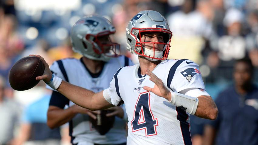Jarrett Stidham Rallies Patriots To 22 17 Victory Over Tennessee Titans Tennessee Titans Patriots New England Patriots