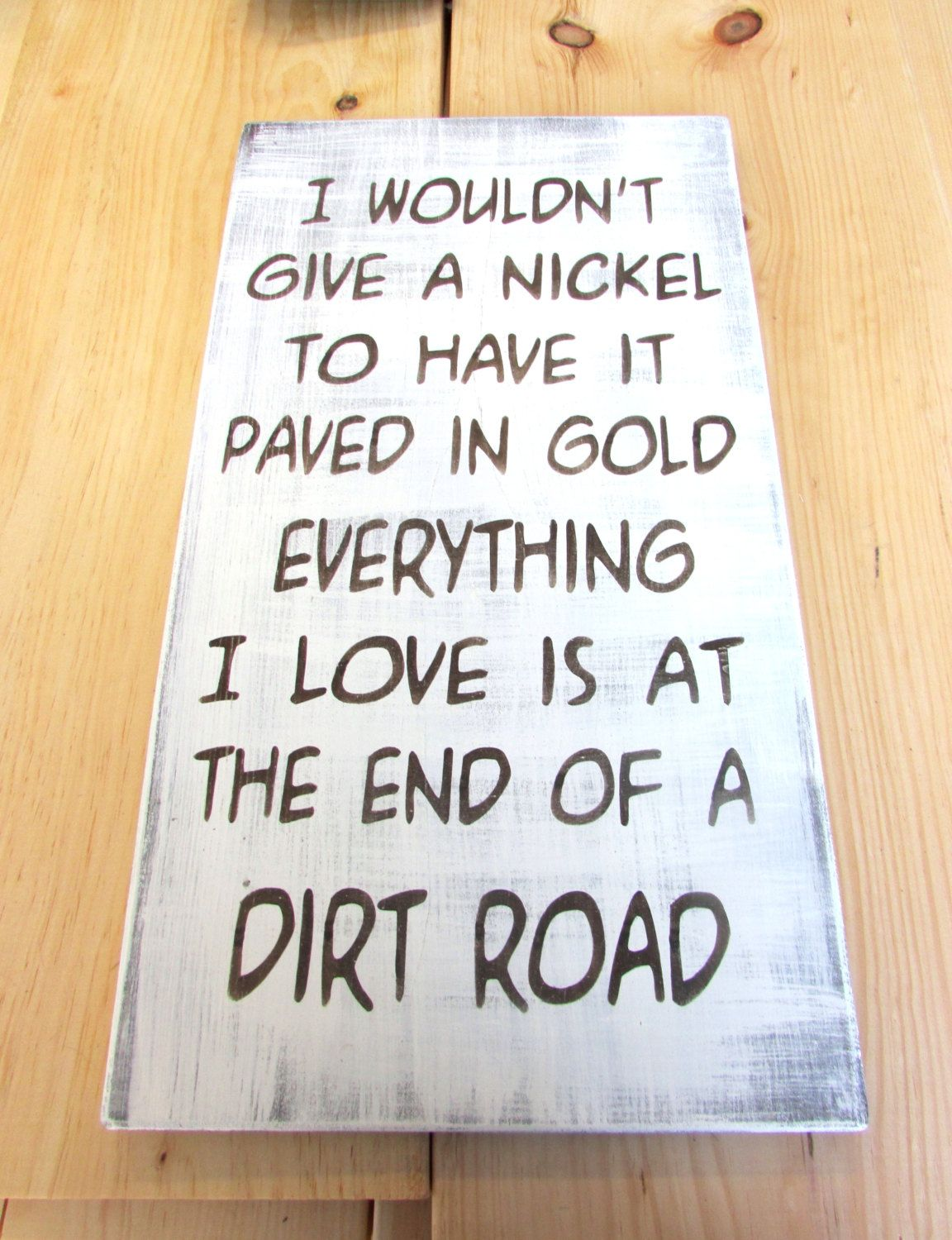 Country Decor Signs Delectable Primitive Country Sign Made Of Wood Hand Painted And Distressed Review
