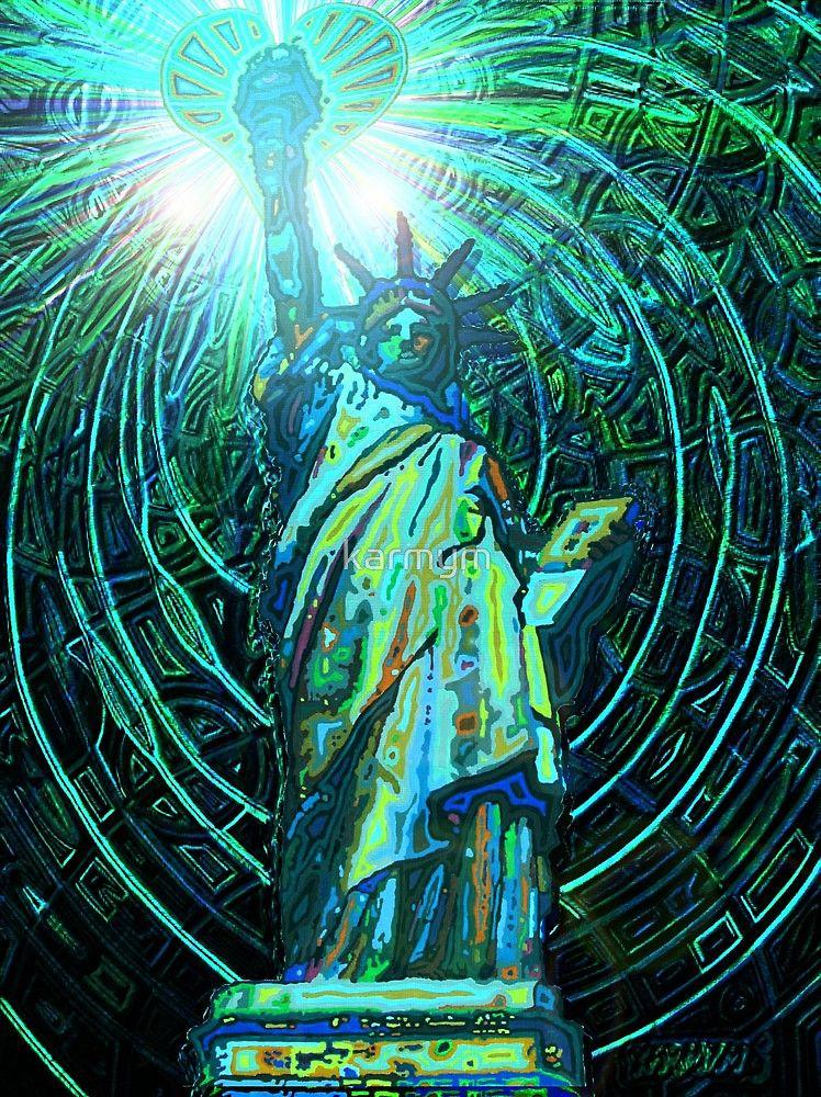 « lady liberty - digital - 2010 » par karmym