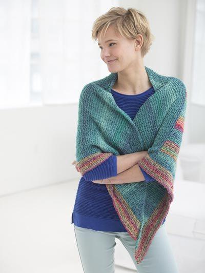 Free Knitting Pattern L50050 Triangle Shawl Lion Brand Yarn