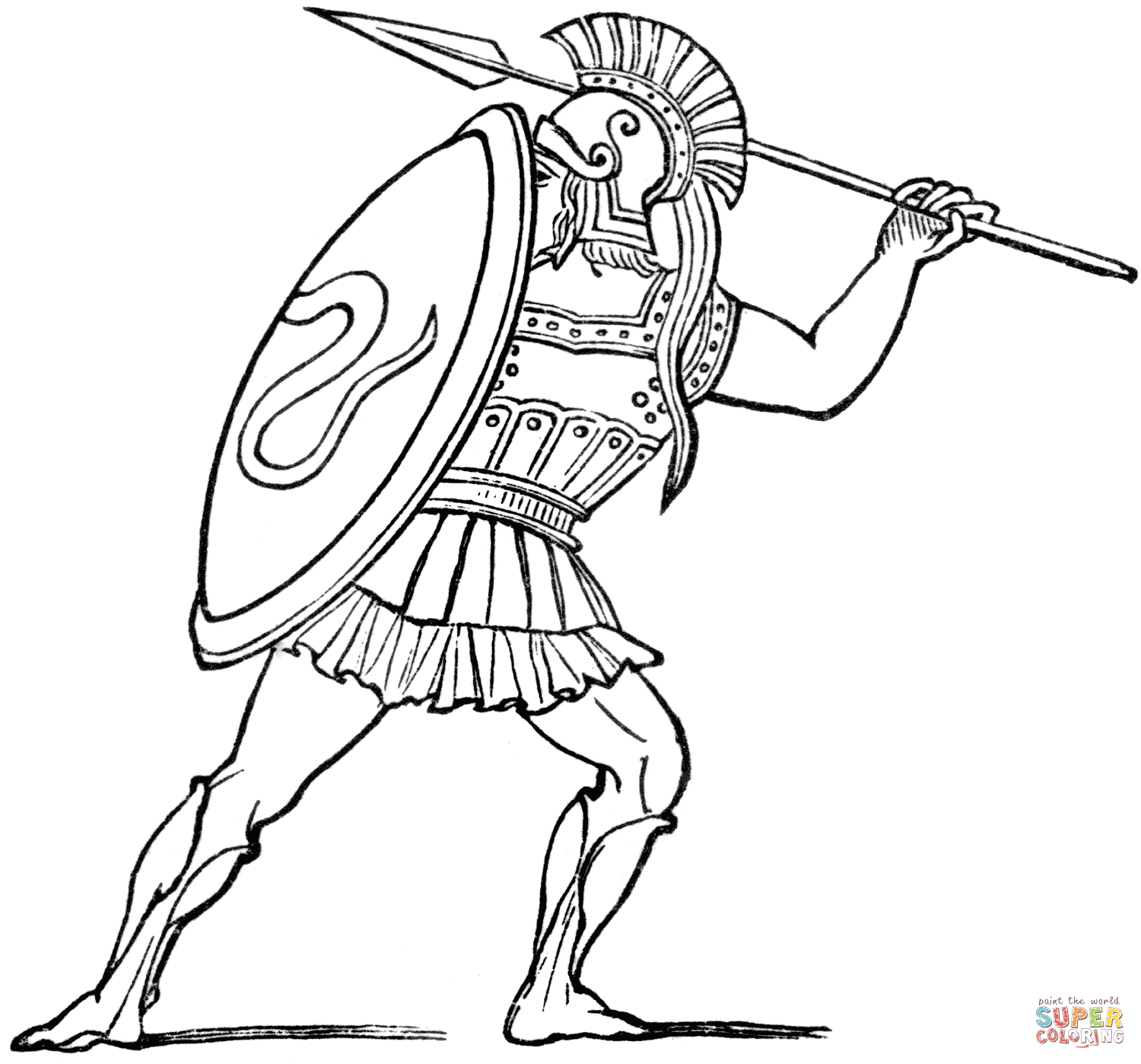 Ancient Greek Sol R Coloring Page