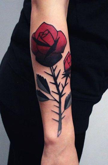 Significado De Los Tatuajes De Rosas Con Espinas Rosas Tatuajes