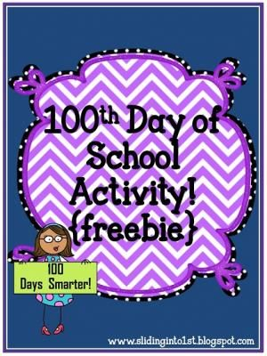 Activities for the 100th Day of School freebie from Sliding into First on TeachersNotebook.com -  (11 pages)