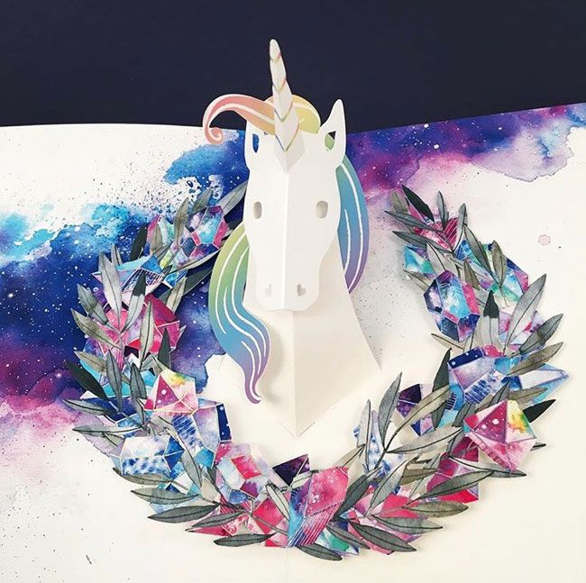 Trend Driven Pop Up Cards From Uwp Luxe Birthday Card Pop Up Unicorn Card Pop Up Card Templates