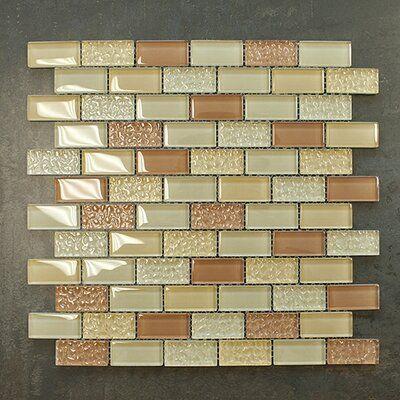 Supreme Tile 1 X 2 Glass Mosaic Tile Wayfair Mosaic Glass Glass Mosaic Tiles Mosaic Tiles