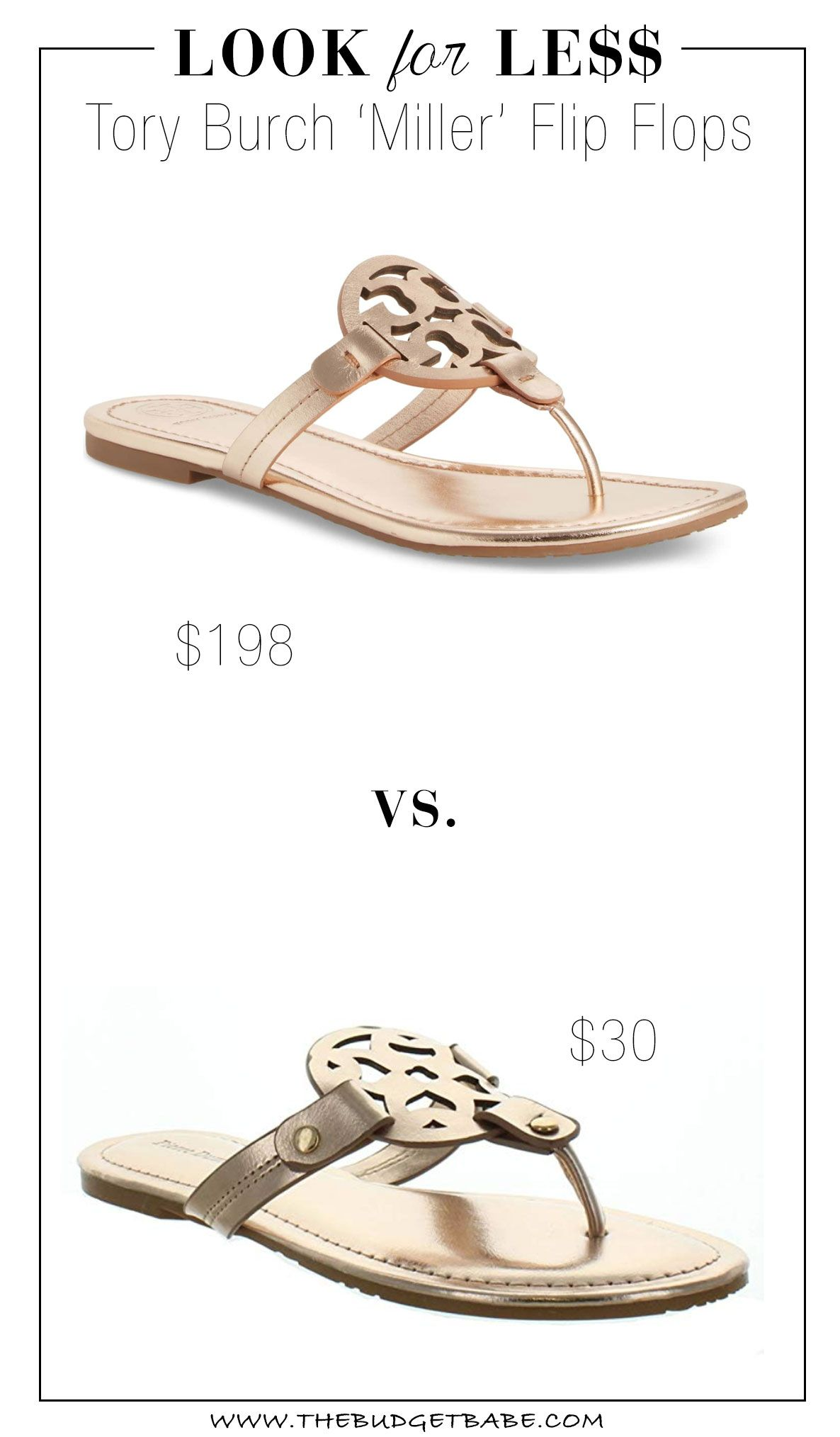 57cad2a37e Look for Less: Tory Burch 'Miller' Flip Flops | The Look for Less ...