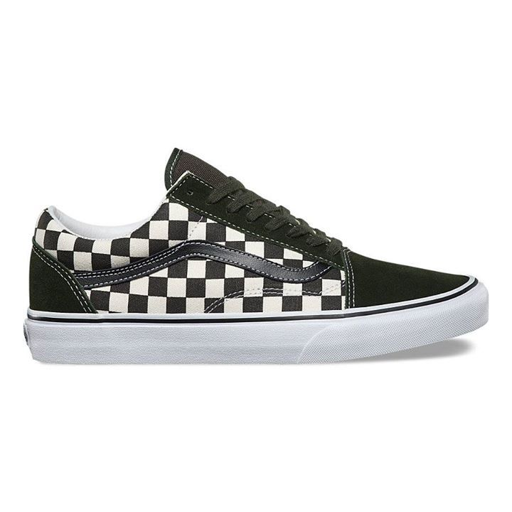 vans era checkerboard black & natural skate shoe