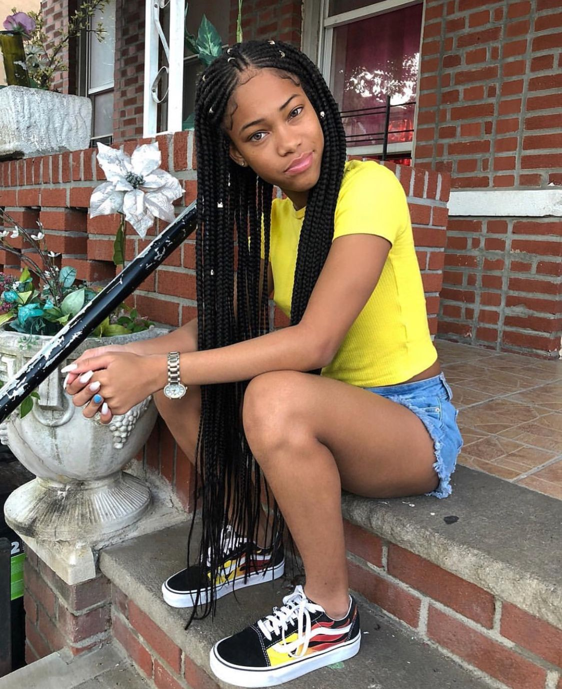 Braided Hairstyles For Black Hair Pinterest Uncategorized Braids And Beads Natural Hairsty Hair Styles Braids Hairstyles Pictures Black Girl Braided Hairstyles