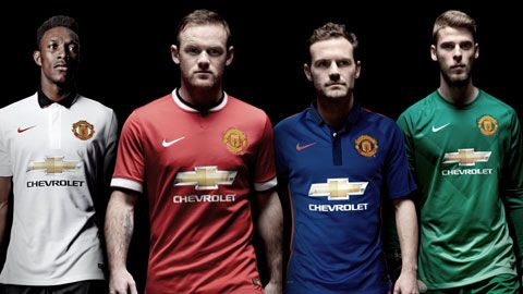 3ab22bc7df2 United reveal blue third kit for 2014 15 season - Official Manchester United  Website