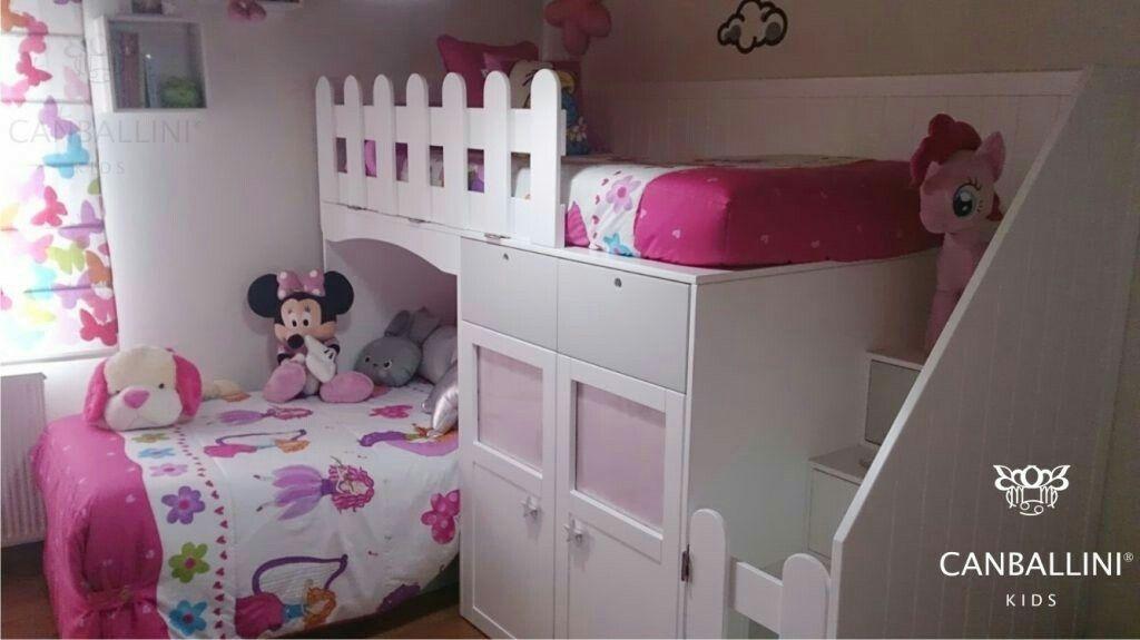 Literas con camas en l para habitaciones infantiles y juveniles literas con dos y tres camas - Habitaciones infantiles con dos camas ...