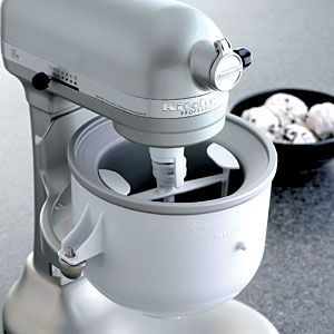 Make Up To 2 Quarts Of Fresh Ice Cream Sorbet And Other Frozen Desserts With This Stylish Maker Attachment Convert Any Kitchenaid Stand Mixer