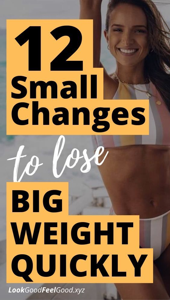 12 small changes to lose big weight quickly | lose weight inspiration | best diet for weight loss |...