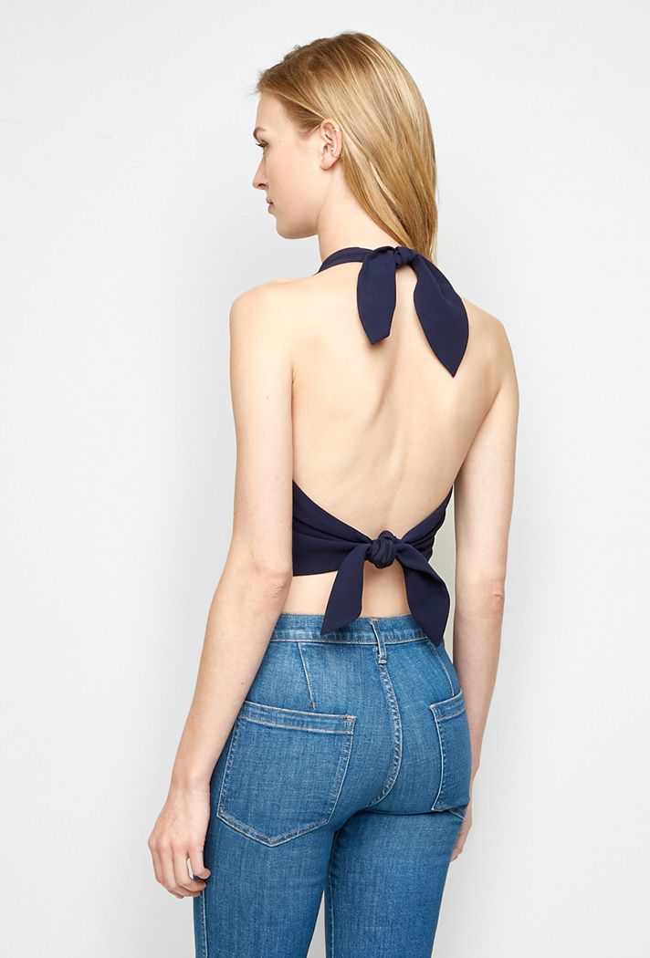 It's a party in the back! Try these on-trend tie-back tops at @stylecaster | Crepe Tie Back Shell, $296; at Jenni Kayne