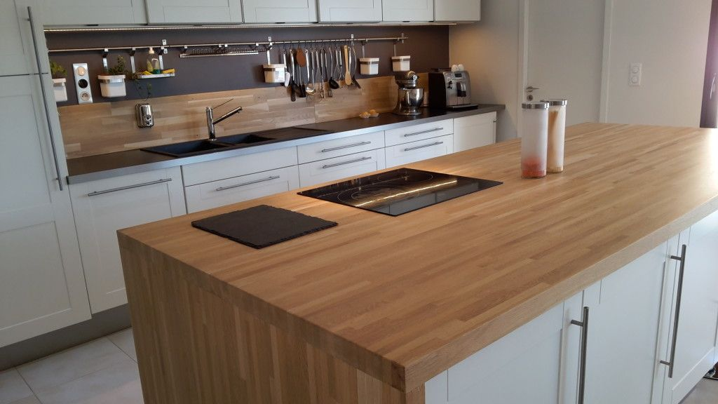 Image Optez Pour Un Plan De Travail En Bois Massif Home Decor Kitchen Home