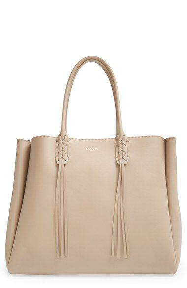 Lanvin Calfskin Leather Tote Available At Nordstrom