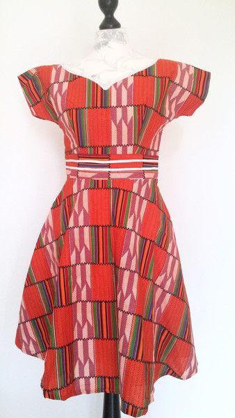 Colorful Kente African wax printed Kleider von Urban-Apparel auf DaWanda.com