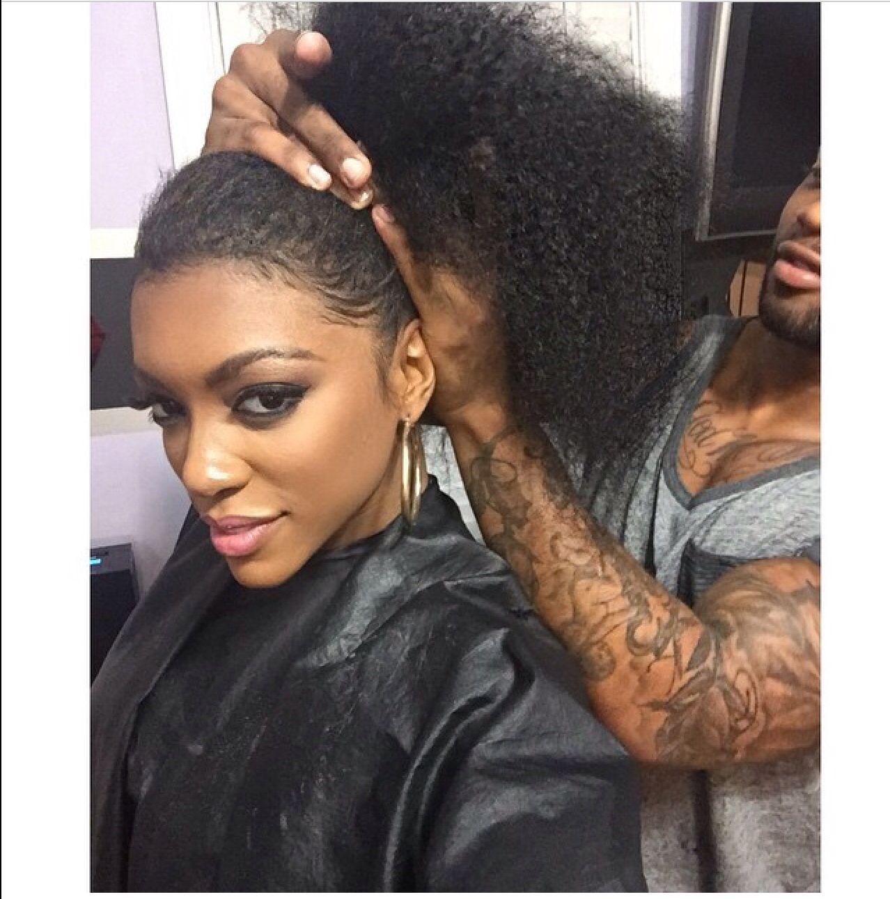 porsha real hair