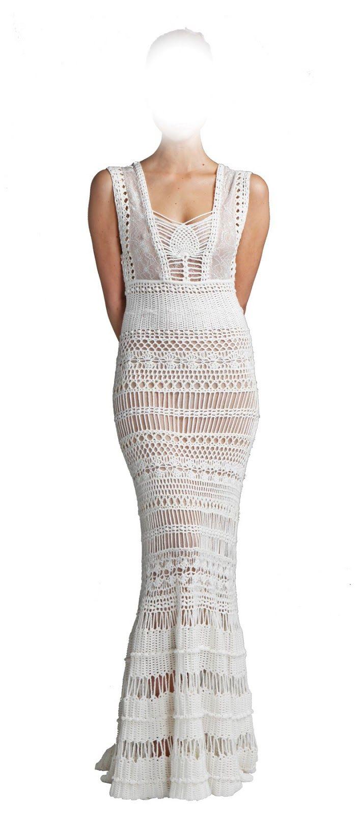 Knitted wedding dress  Vestido de fiesta  Tejidos  Pinterest  Crochet Catherine