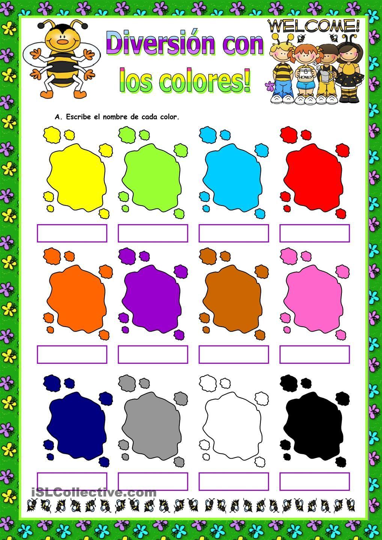 Los colores primeros pasos pinterest spanish interactive los colores robcynllc Image collections