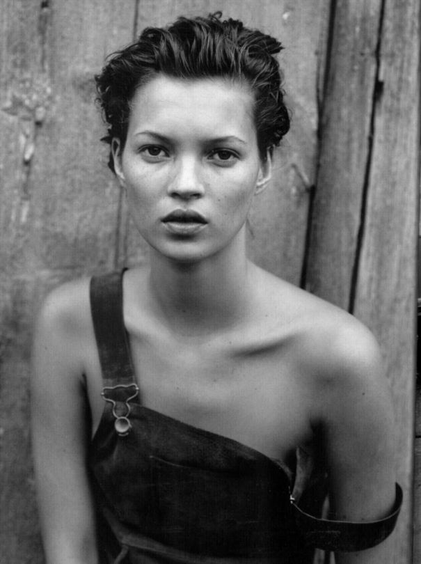 Remembering the 90s with Kate Moss: Photographed by Peter Lindbergh, this image was featured in his book 10 Women.