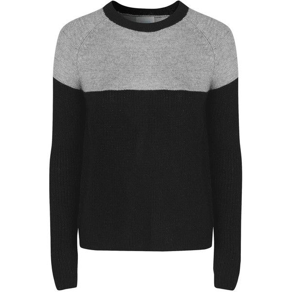 TOPSHOP **Textured Jumper by Jovonna (€40) ❤ liked on Polyvore featuring tops, sweaters, black, textured sweater, topshop sweaters, topshop tops, relaxed fit tops and topshop