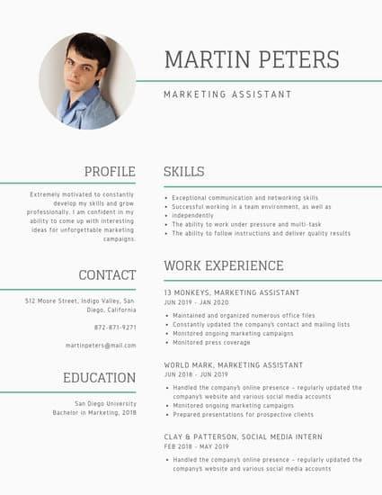 Customize 387 Minimalist Resume Templates Online Canva Minimalist Resume Template Infographic Resume Resume Design Creative