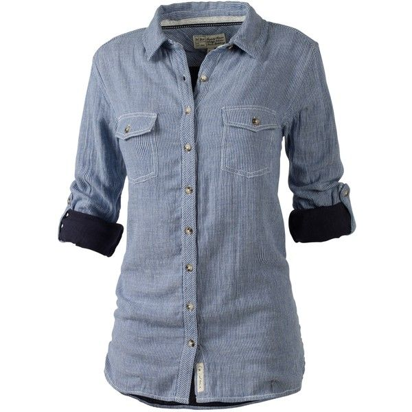 Fat Face Boyfriend Check Shirt, Navy ($55) ❤ liked on Polyvore