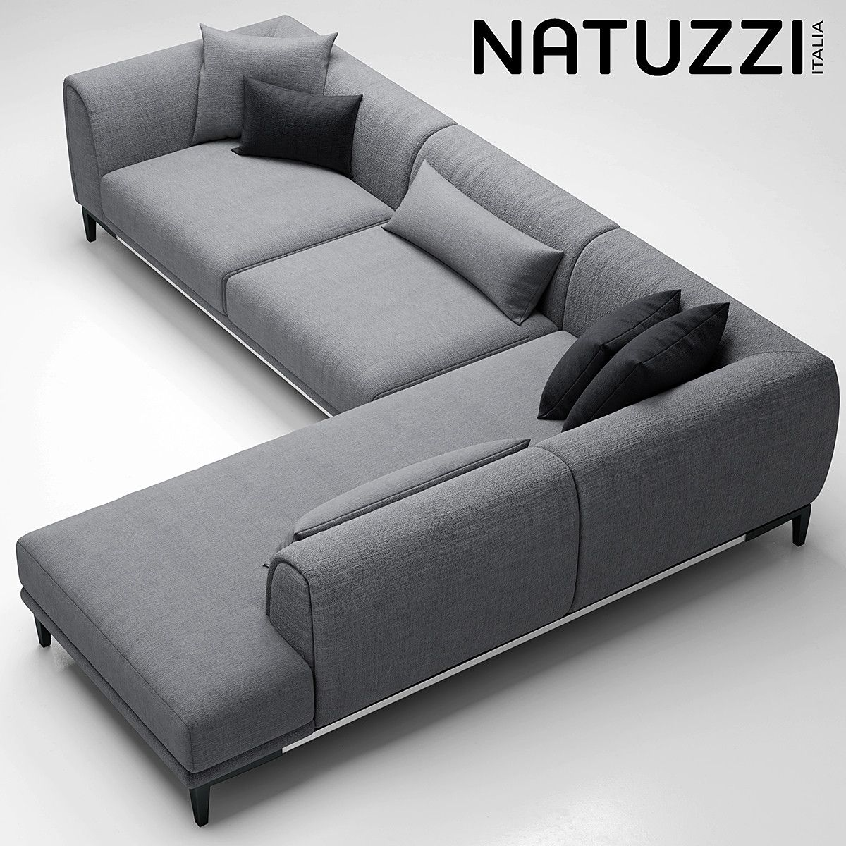 sofa natuzzi trevi 3d model | corner sofa design, living