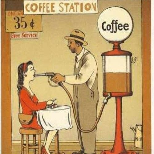 """Wonder where I could find a cup of coffee for 35 cents? I do love the size of the """"coffee pot"""" though."""