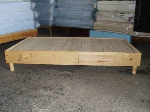 Oferta bases para cama 100 madera de pino desde - Bases de camas de madera ...
