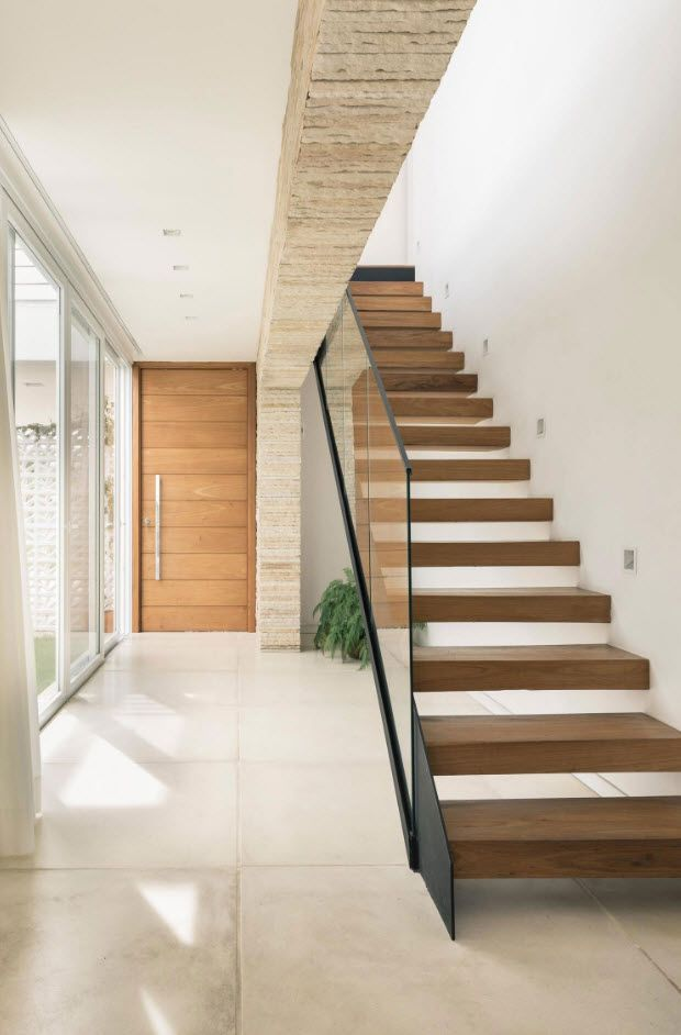 Modernas escaleras en madera entraditas en 2019 escaleras de madera modernas escaleras de - Escaleras de madera modernas ...