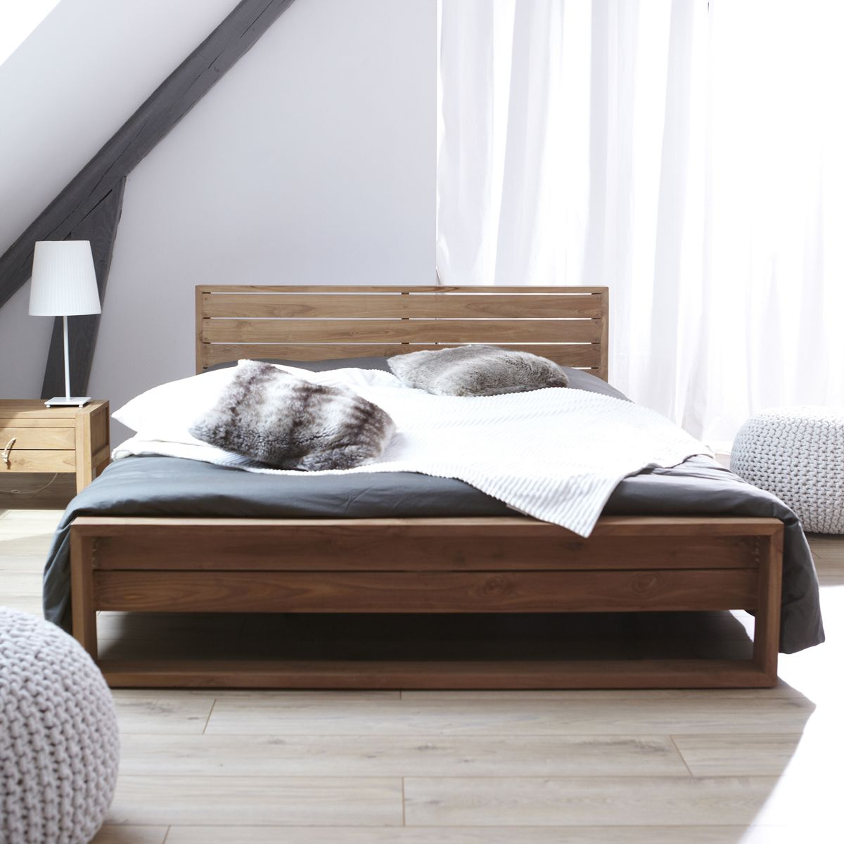 Teak-Bett 140x190 – Verkauf von Massivteak-Betten Minimalys ...